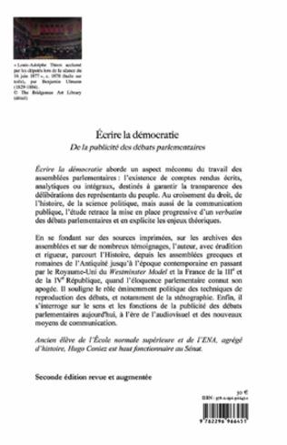 4eme Ecrire la démocratie (2e édition revue et augmentée)