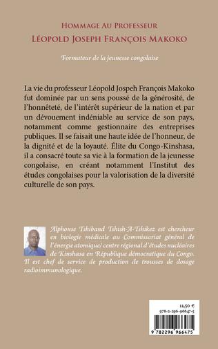 4eme Hommage au Professeur Léopold Joseph François Makoko