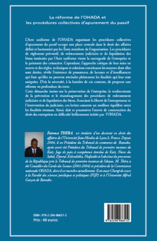 4eme La réforme de l'OHADA et les procédures collectives d'apurement du passif