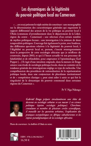 4eme Les dynamiques de la légitimité du pouvoir politique local au Cameroun