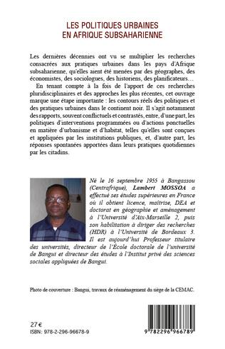 4eme Les politiques urbaines en afrique subsaharienne