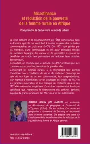4eme Microfinance et réduction de la pauvreté de la femme rurale en Afrique