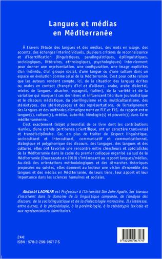 4eme Langues et médias en Méditerranée