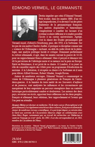 4eme Edmond Vermeil, le germaniste (1878-1964)