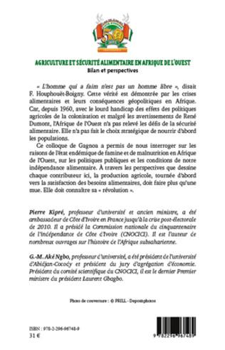 4eme Agriculture et sécurité alimentaire en Afrique de l'ouest