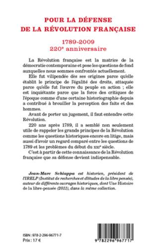4eme Pour la défense de la Révolution française