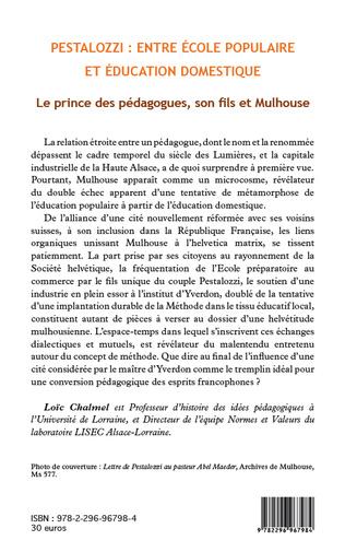 4eme Pestalozzi : entre école populaire et éducation domestique