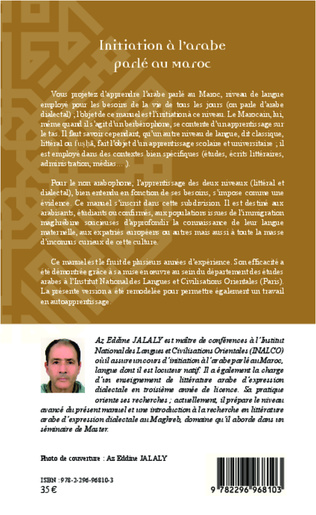4eme Initiation à l'arabe parlé au Maroc