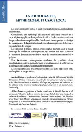4eme Introduction : LA PHOTOGRAPHIE, MYTHE GLOBAL ET USAGE LOCAL