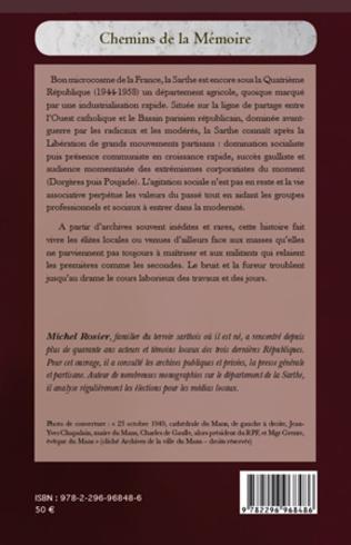 4eme Vie politique et sociale de la Sarthe sous la IVe République