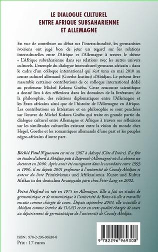 4eme Le dialogue culturel entre Afrique subsaharienne et Allemagne