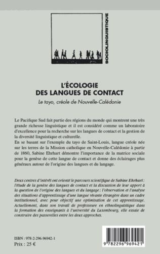 4eme L'écologie dans les langues de contact