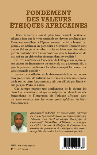 4eme Fondement des valeurs éthiques africaines
