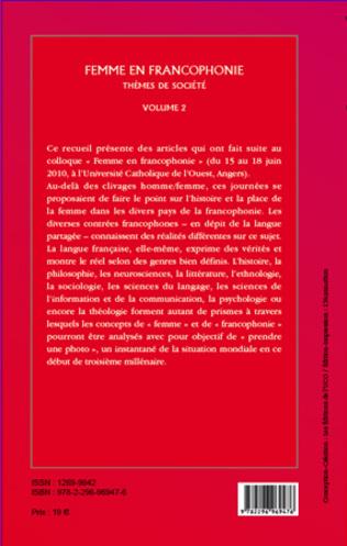 4eme Femme en Francophonie (Volume 2)