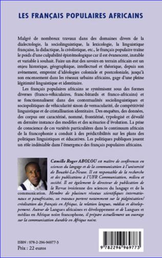 4eme Les français populaires africains