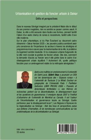 4eme Urbanisation et gestion du foncier urbain à Dakar