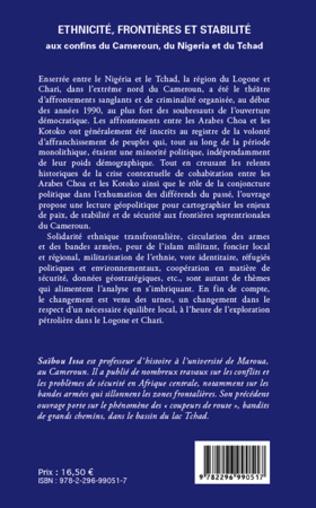 4eme Ethnicité, frontières et stabilité aux confins du Cameroun, du Nigeria et du Tchad