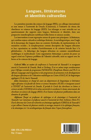 4eme Langues, littératures et identités culturelles