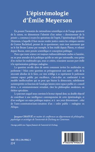 4eme L'épistémologie d'Emile Meyerson
