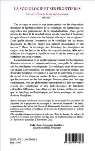 4eme La sociologie et ses frontières
