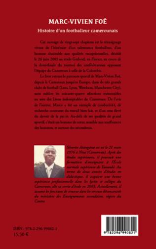 4eme Marc-Vivien Foé. Histoire d'un footballeur camerounais