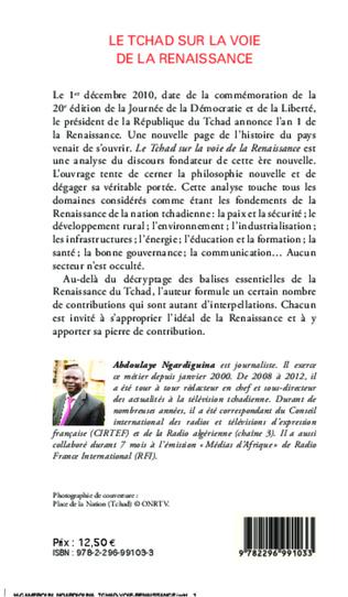 4eme Le Tchad sur la voie de la renaissance