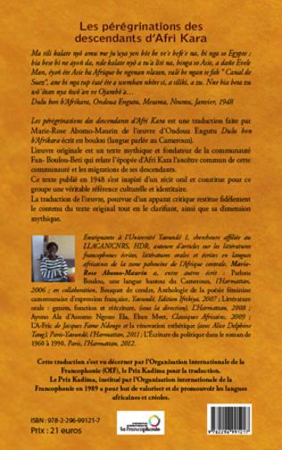 4eme Les pérégrinations des descendants d'Afri Kara