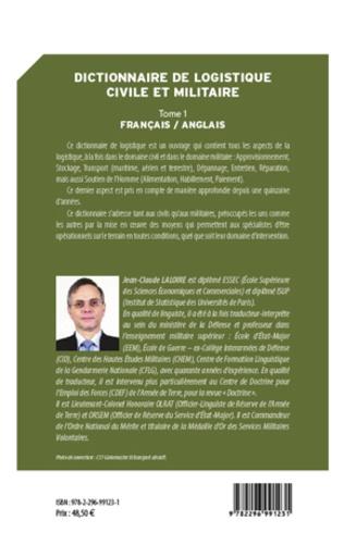4eme Dictionnaire de logistique civile et militaire (Tome 1)