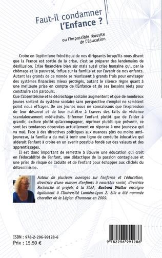 4eme Faut-il condamner l'Enfance ?