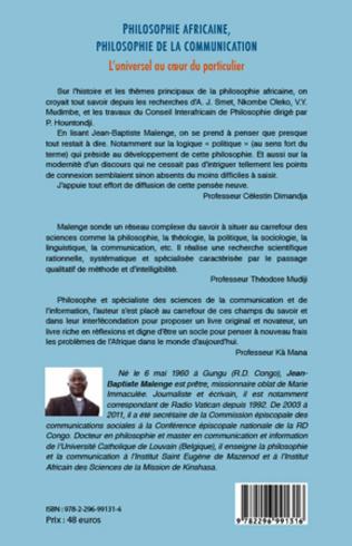 4eme Philosophie africaine, philosophie de la communication