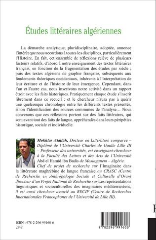 4eme Etudes littéraires algériennes