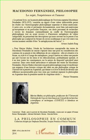 4eme Macedonio Fernandez, philosophe