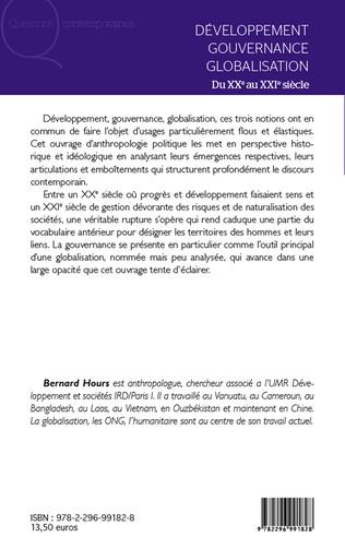 4eme Développement gouvernance globalisation du XXe au XXIe siècle