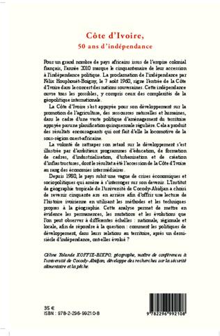 4eme Côte d'Ivoire, 50 ans d'indépendance