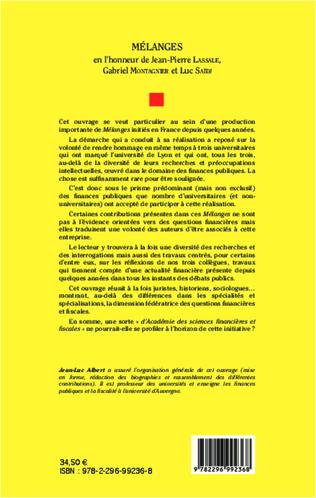 4eme Mélanges en l'honneur de Jean-Pierre Lassale, Gabriel Montagnier et Luc Saïdj