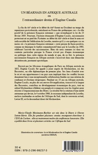 4eme Un Béarnais en Afrique australe ou l'extraordinaire destin d'Eugène Casalis