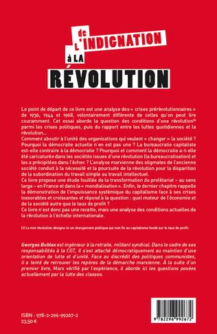 4eme De l'indignation à la révolution