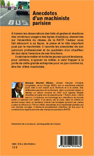 4eme Anecdotes d'un machiniste parisien