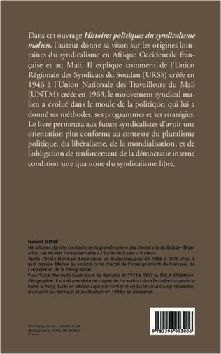4eme Histoires politiques du syndicalisme malien de ses origines à nos jours