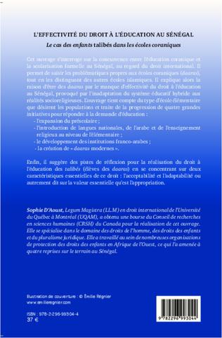 4eme L'effectivité du droit à l'éducation au Sénégal