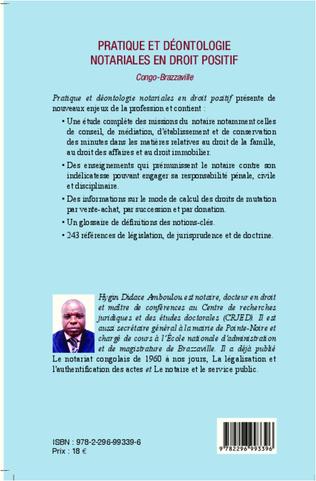 4eme Pratique et déontologie notariales en droit positif