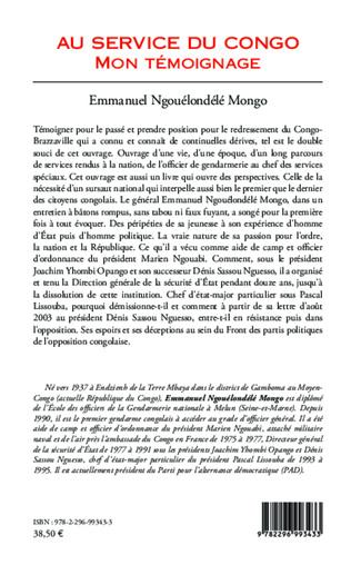 4eme Au service du Congo (Tome 1)