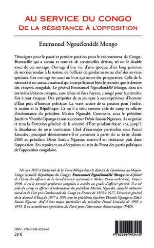 4eme Au service du Congo (Tome 2)