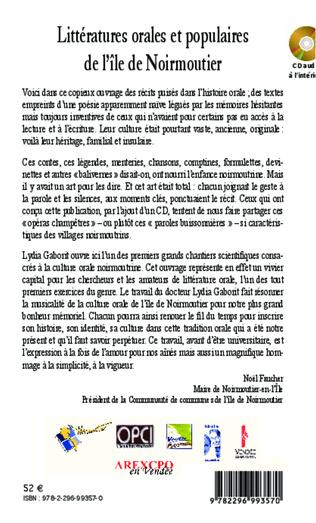 4eme Littératures orales et populaires de l'ile de Noirmoutier