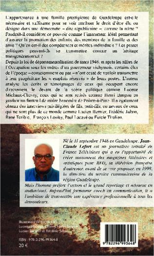 4eme Les grandes familles politiques de Guadeloupe