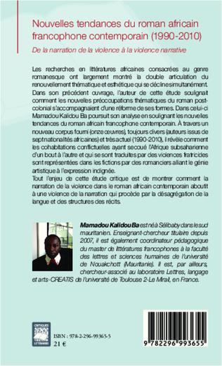 4eme Nouvelles tendances du roman africain francophone contemporain (1990-2010)