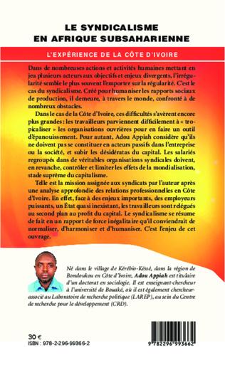 4eme Le syndicalisme en Afrique subsaharienne