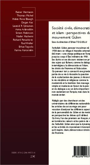 4eme Société civile, démocratie et islam : perspectives du mouvement Gülen