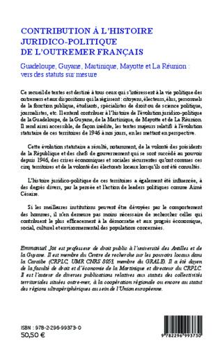 4eme Contribution à l'histoire juridico-politique de l'outremer francais