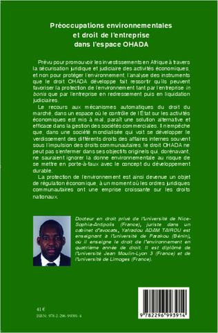 4eme Préoccupations environnementales et droit de l'entreprise